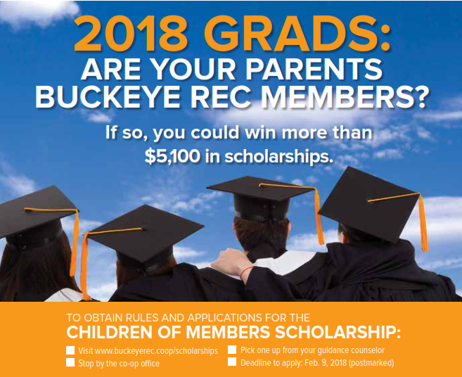 2018 Children of Members Scholarship Graphic