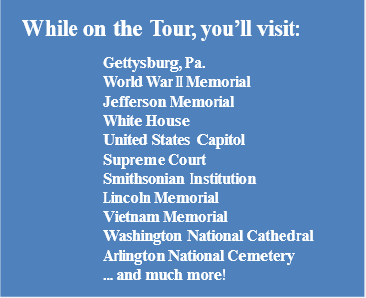 Youth Tour Stops