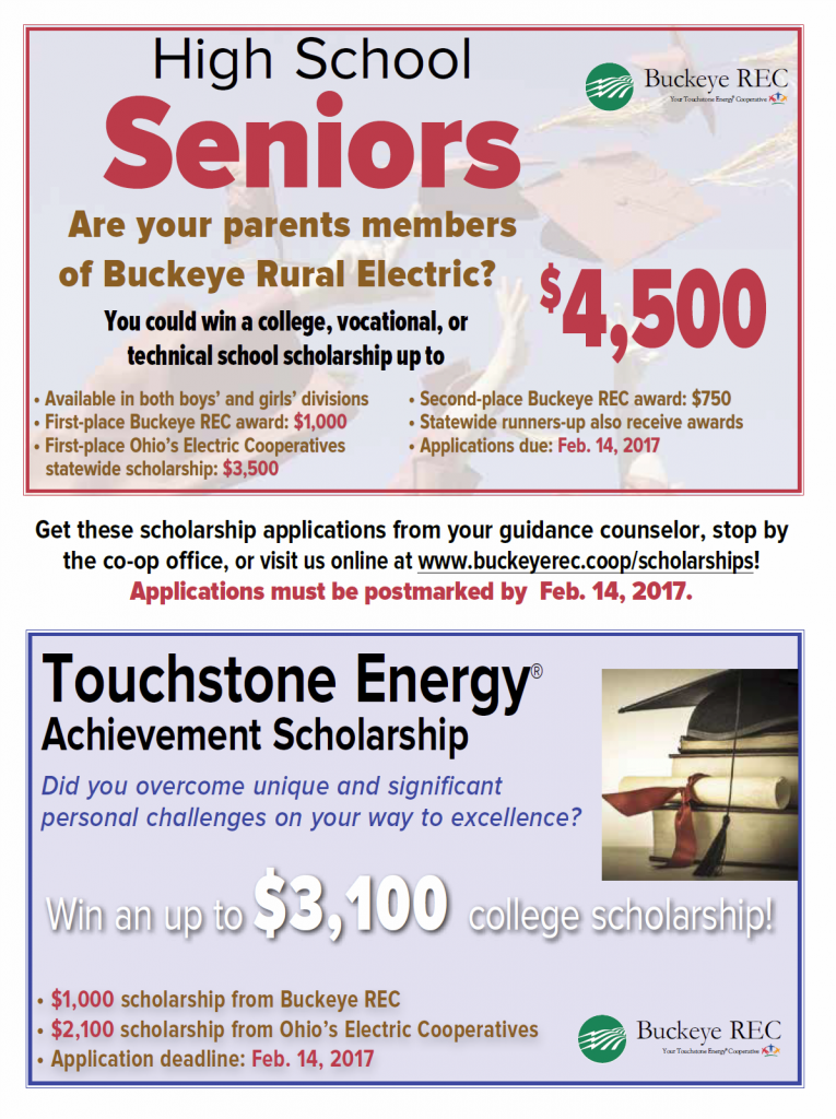 Information for 2017 Buckeye REC Scholarship Opportunities.