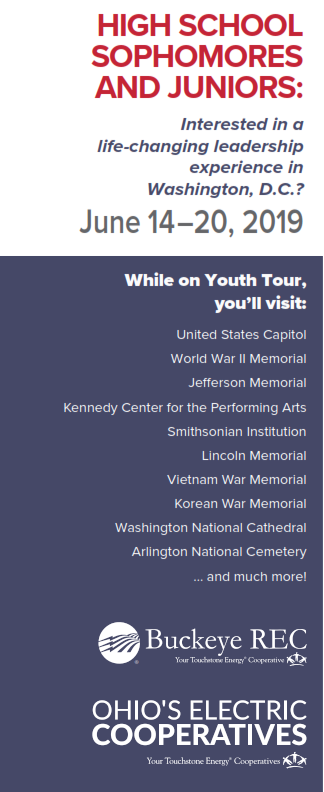 Buckeye REC Youth Tour Information