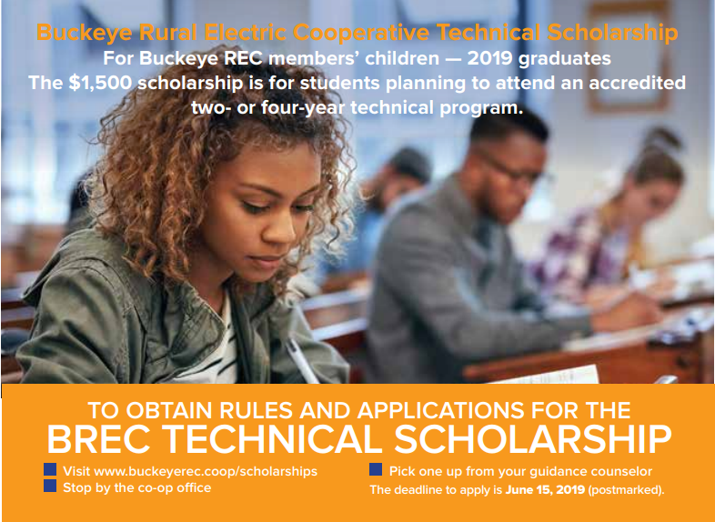 Buckeye REC Technical Scholarship graphic