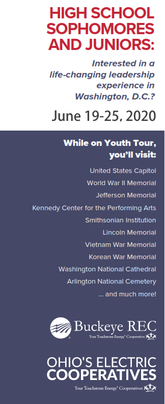 Youth Tour 2020 info